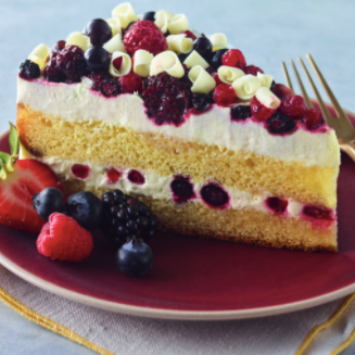 Wild Berry Cake with Fresh Cream