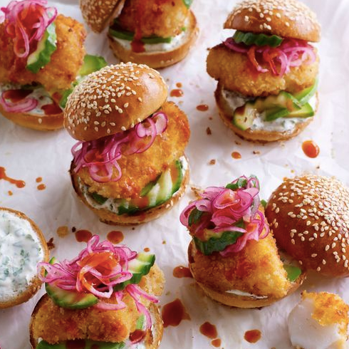 Mini fish filet sliders (4)