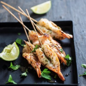 2 Butterfly Shrimp Skewers (approx. 10 units) in Mediterranean Marinade