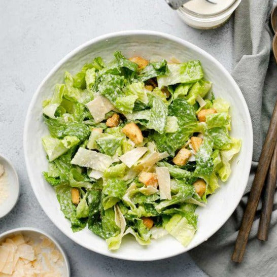 Classic Caesar Salad with Garlic Croutons
