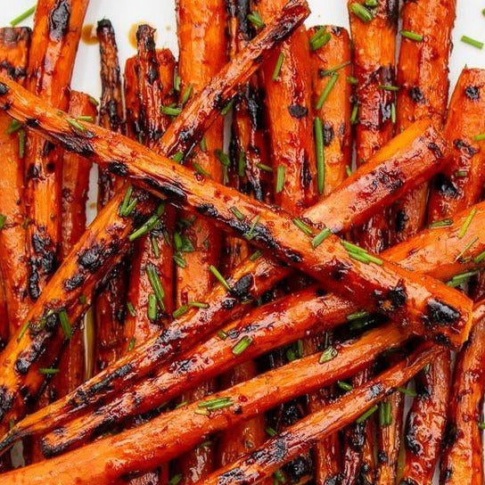 Grilled Heirloom Carrots