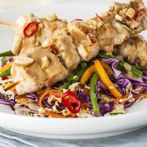 Chicken Satay and Asian Salad (1 portion)