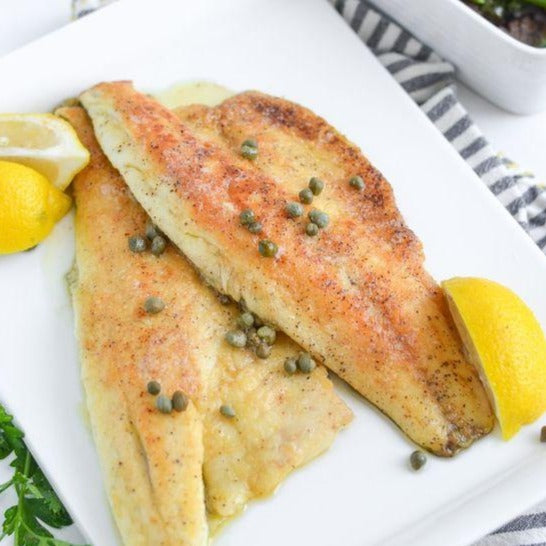 Healthy baked sea bream with steamed cauliflower (1 portion)