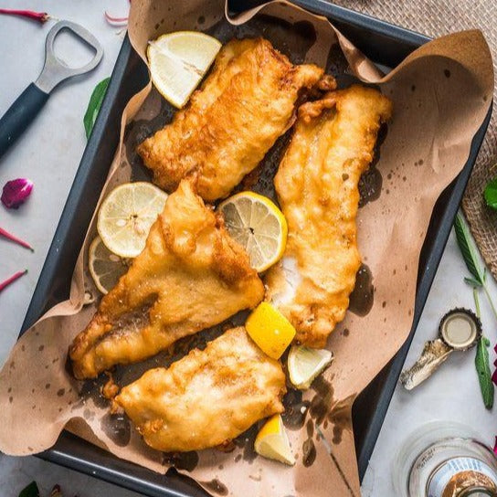 Classic Haddock Fish and Chips with House Tartar Sauce (kids)
