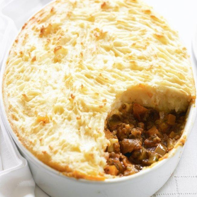 Beef and celery root shepherd's pie