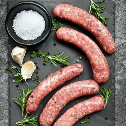 Fresh ground QC pork sausage with house spices (2 portions)