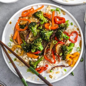 Vegetable Stir Fry on Rice