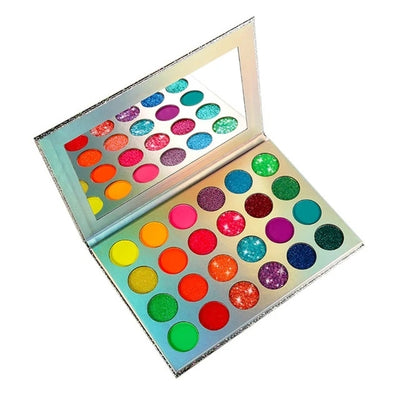 UV Glow Pressed Glitter Eyeshadow Palette