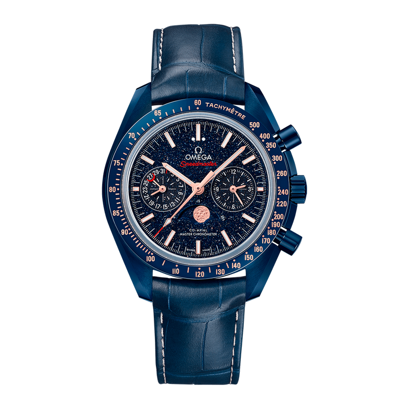 Speedmaster Moonwatch Co-Axial Master Chronometer Moonphase Chronograph 44.25mm Blue Side of the Moon
