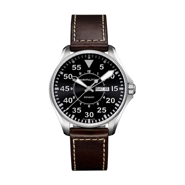 Khaki Aviation Pilot Day Date Quartz