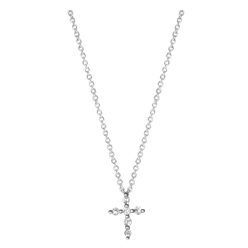 Gold and Diamond Cross Necklace