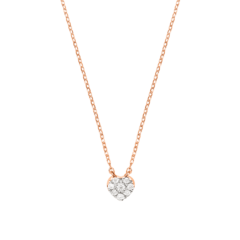 Gold and Diamond Heart Necklace