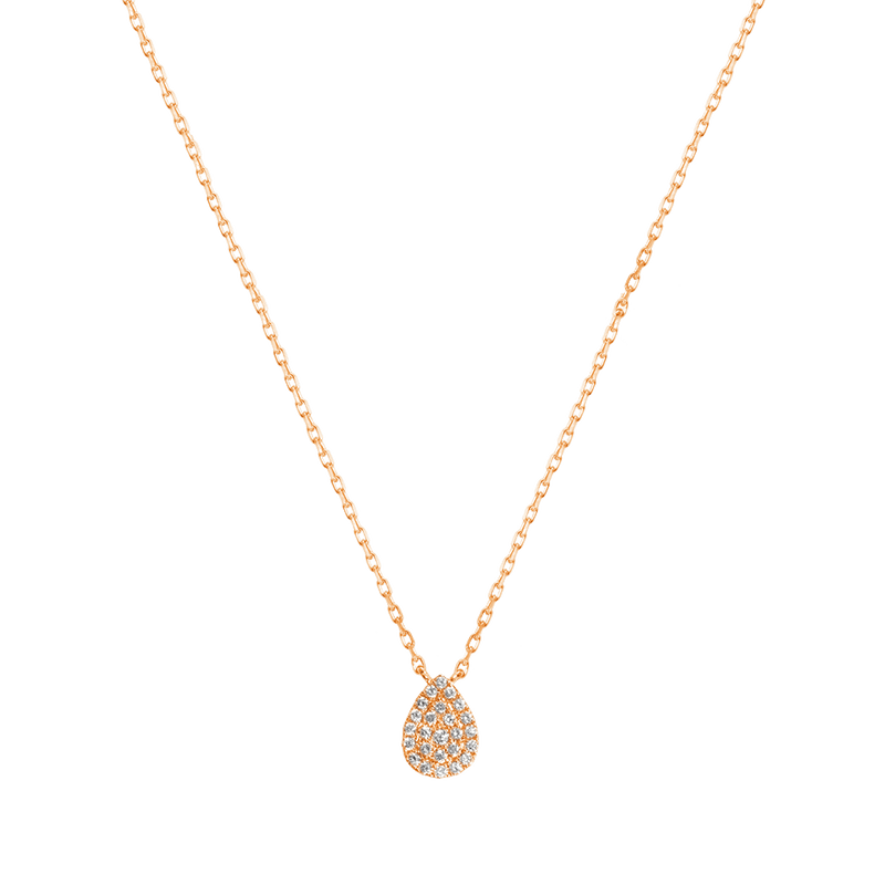 Gold and Diamond Pear Necklace