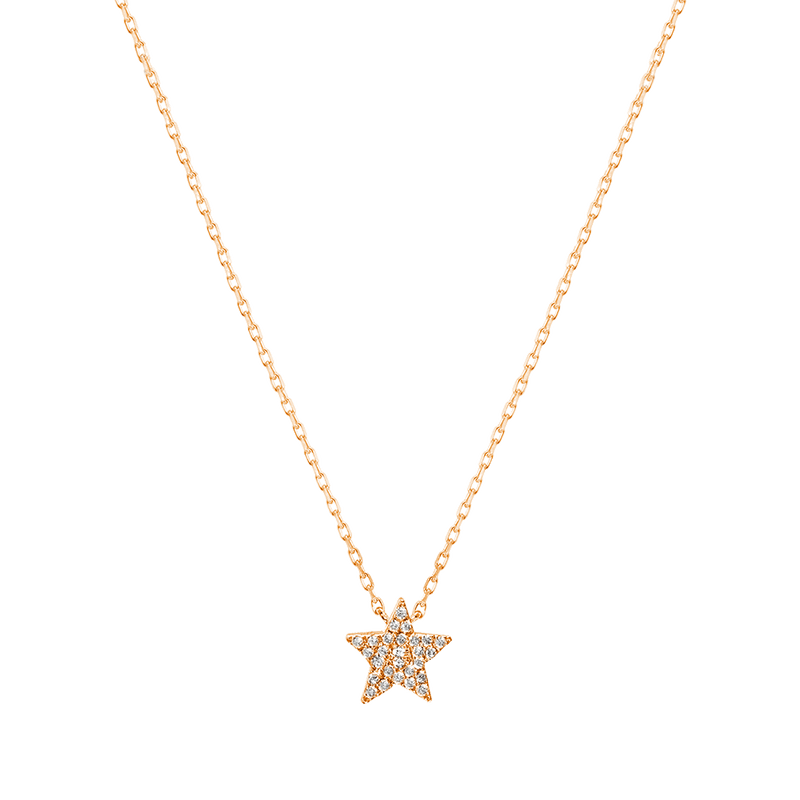 Gold and Diamond Star Necklace