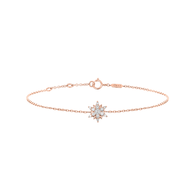 Gold and Diamond Sun Bracelet