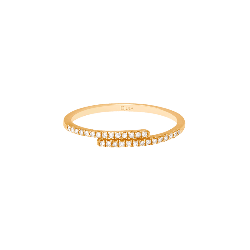 Gold and Diamond You and Me Ring
