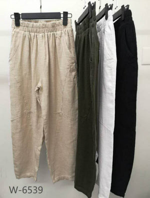 Worthier Linen Pant Black
