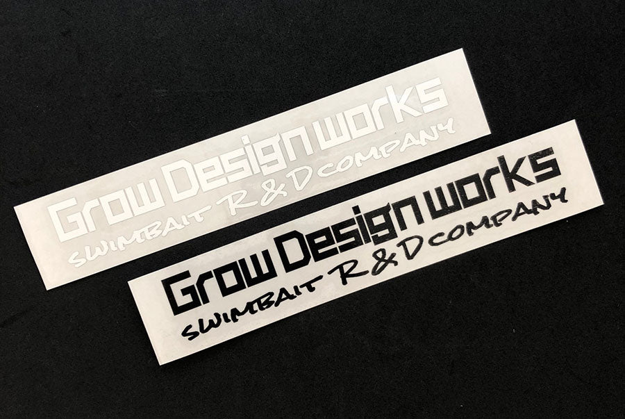 Grow Design works logo cutting sticker