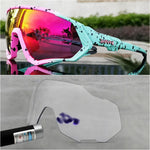 New photochromic cycling glasses(2 lens set)