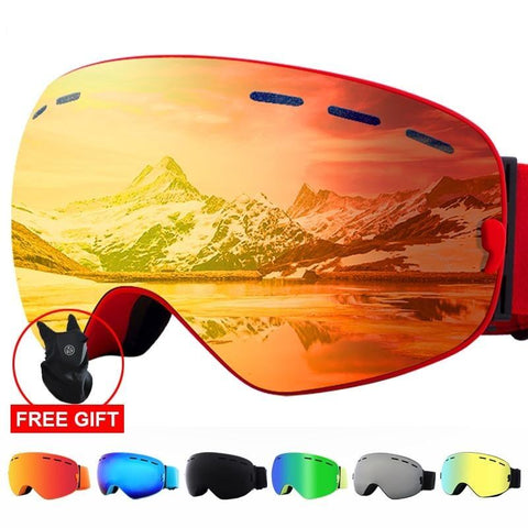 2020 UV400 Protection  Anti-fog Ski Goggles with Ski Mask