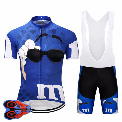 2020 BLUE M bike TEAM Cycling Jersey