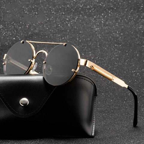 Round Steampunk Sunglasses Men Women