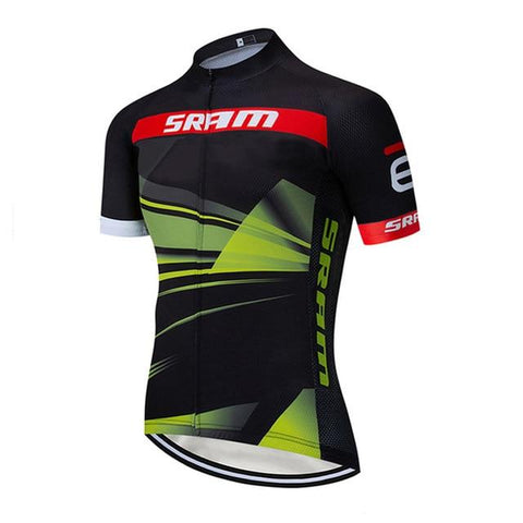 Black SRAM Cycling Team Clothing Bike