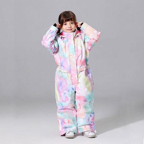 New Girls And Boys Ski Suit Windproof Winter Snow Costumes