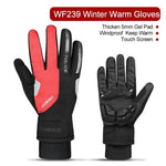 Full finger mountain bike gloves gel thickening