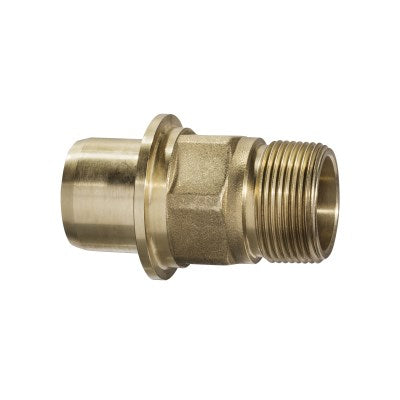 BARREL UNION ADAPTOR BRASS M-THREADED METRIC