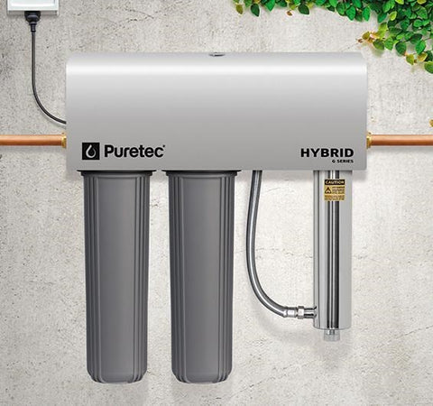Puretec Hybrid G7 Dual Filter & UV Water Treatment System, 130 lpm