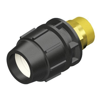 MALE ADAPTOR METRIC WITH BRASS THREAD