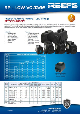 Reefe Low Voltage Pond and Water Feature Pump