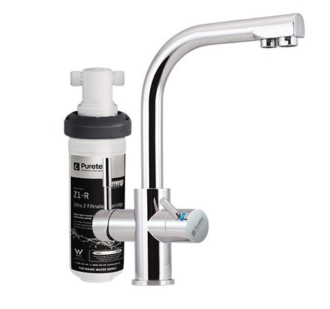 "Puretec Quick-twist Ultra Z filter with Triplaâ""¢ T3 LED mixer tap"