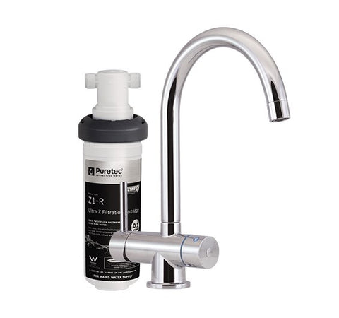 "Puretec Quick-twist Ultra Z filter with Triplaâ""¢ T4 LED mixer tap"