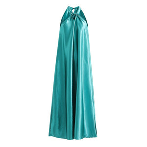 Tangada fashion women halter midi dresses sleeveless vintage fashion elegant straight dress vestidos feminina 1D314