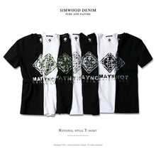 Load image into Gallery viewer, SIMWOOD New 2019 Brand Summer Short Sleeve T shirts Men 100% Cotton Fashion Tees Plus Size O-Neck Village Print Clothing 180118