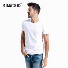 Load image into Gallery viewer, SIMWOOD 2019 Summer New Solid Basic t shirt Men Skinny O-neck Cotton Slim Fit tshirt Male High Quality Breathable Tees 190115