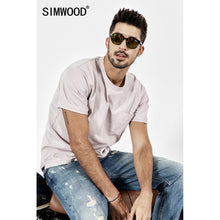Load image into Gallery viewer, SIMWOOD 2019 New Summer t shirt Men Short Sleeve O-Neck Print T-shirt Casual Tops Vintage Broken Brand Tees Male camiseta 190071