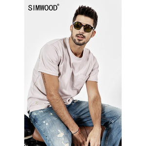 SIMWOOD 2019 New Summer t shirt Men Short Sleeve O-Neck Print T-shirt Casual Tops Vintage Broken Brand Tees Male camiseta 190071
