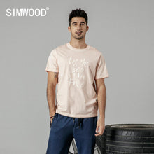 Load image into Gallery viewer, SIMWOOD 2019 summer new fashion letter print t shirt men vintgae 100% cotton tshirt Breathable top high quality t-shirt 190223