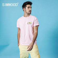 Load image into Gallery viewer, SIMWOOD 2019 summer new print letter t-shirt men fashion t shirt 100% cotton brand clothing high qulaity top  190151
