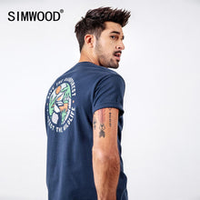 Load image into Gallery viewer, SIMWOOD 2019 T-Shirts Men Fashion Brand Streetwear Casual Slim Cartoon Print Tops Male Cotton Summer Tees camiseta homme 190112