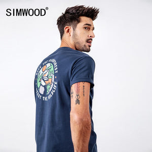 SIMWOOD 2019 T-Shirts Men Fashion Brand Streetwear Casual Slim Cartoon Print Tops Male Cotton Summer Tees camiseta homme 190112