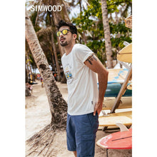 Load image into Gallery viewer, SIMWOOD 2019 summer new funny carton bus print t shirt men 100% cotton breathable tshirt thin holiday style top t-shirt 190337