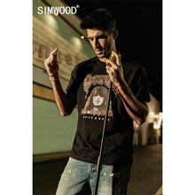 Load image into Gallery viewer, SIMWOOD 2019 summer new hip hop fashion t shirt men streetwear Rock and Roll print tshirt 100% cotton t-shirt top   190303