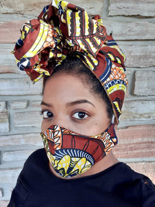 Johanna | Reusable Face Mask + Headwrap