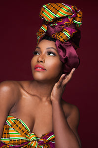 Iniko Satin Lined | Ankara Head Wrap