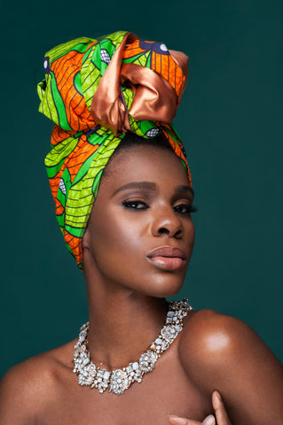 Lata Satin Lined | Ankara Head Wrap
