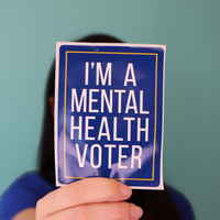 Mental Health Voter Sticker